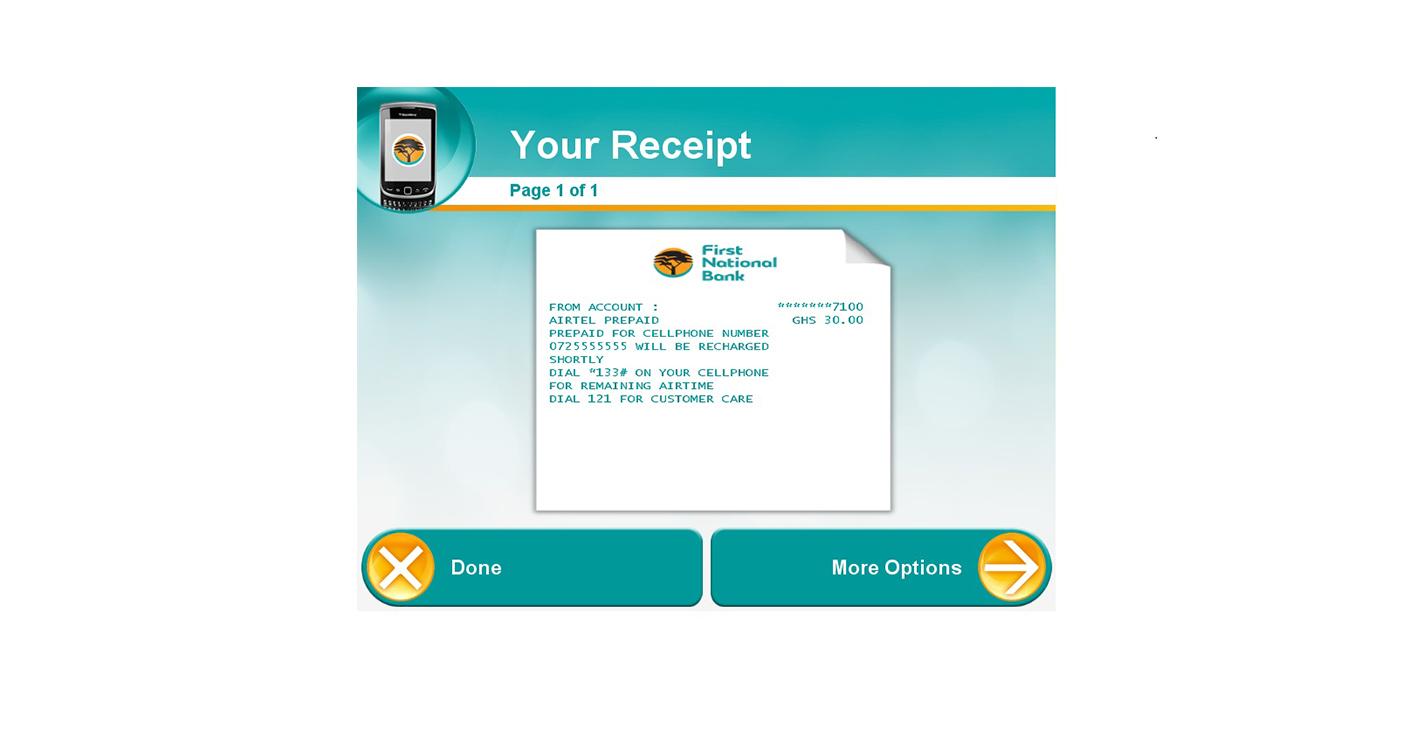 Prepaid airtime - For me - FNB